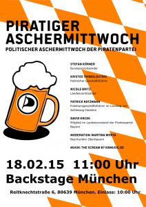 Piratiger Aschermittwoch 2015